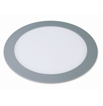 Downlight redondo blanco plata